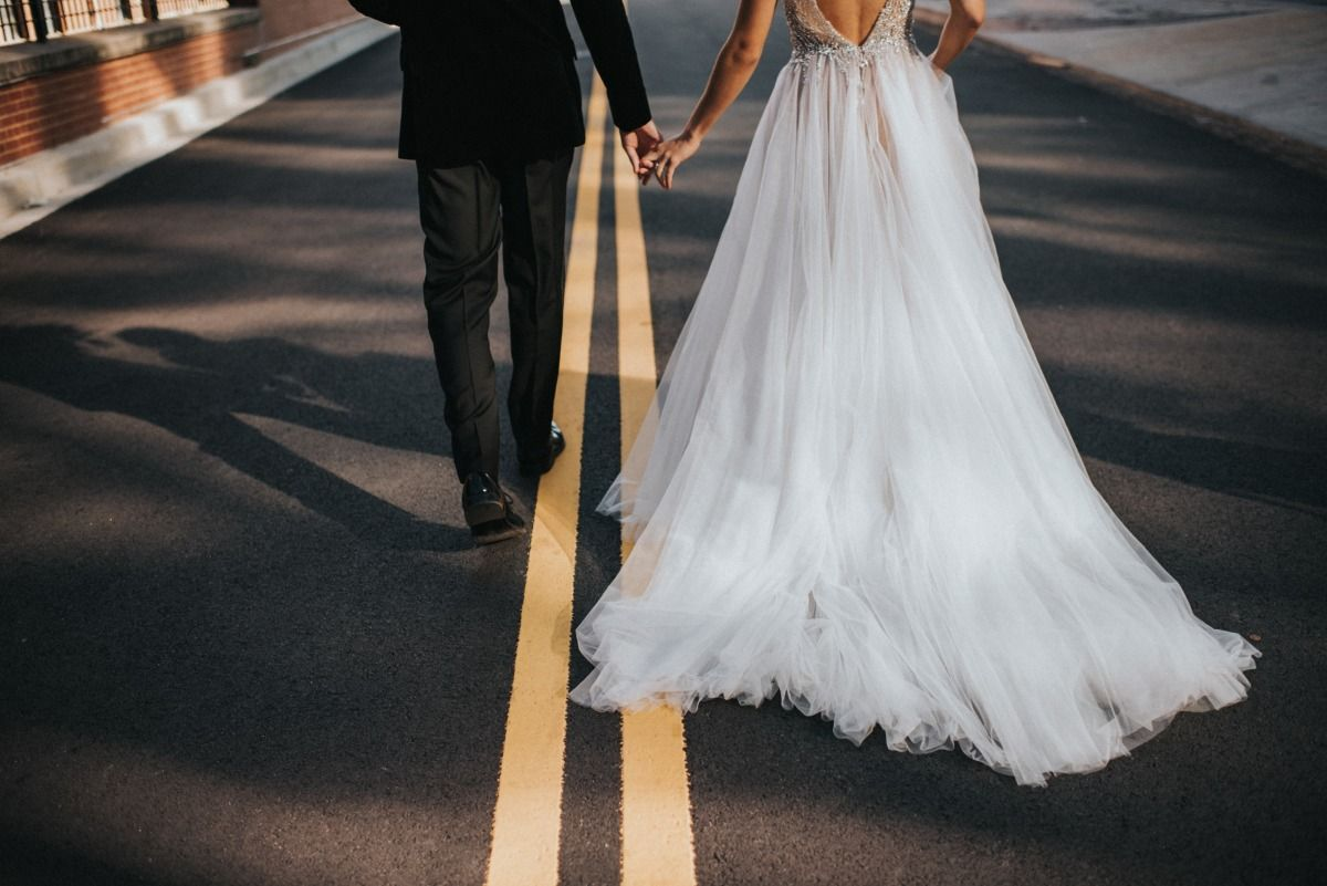Modern And Moody Dc Wedding Wedding Dresses Pink Wedding