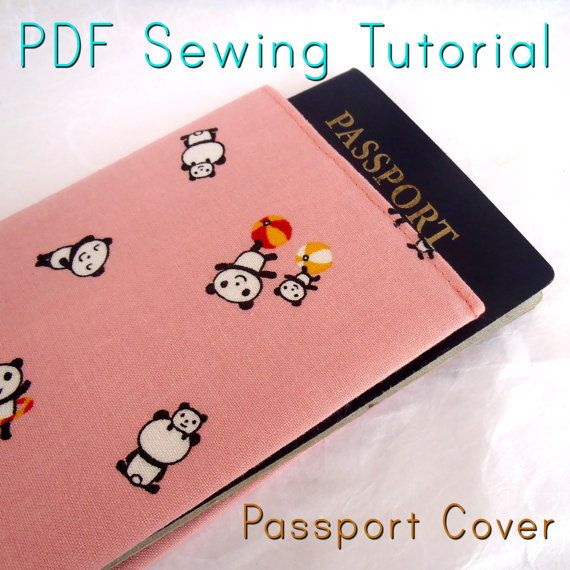 Easy Peasy Beginner's Sewing Tutorial for a Passport Cover