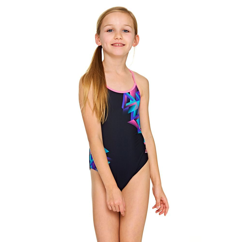 Zoggs Girls Sprintback One Piece Swimsuit Swimsuit