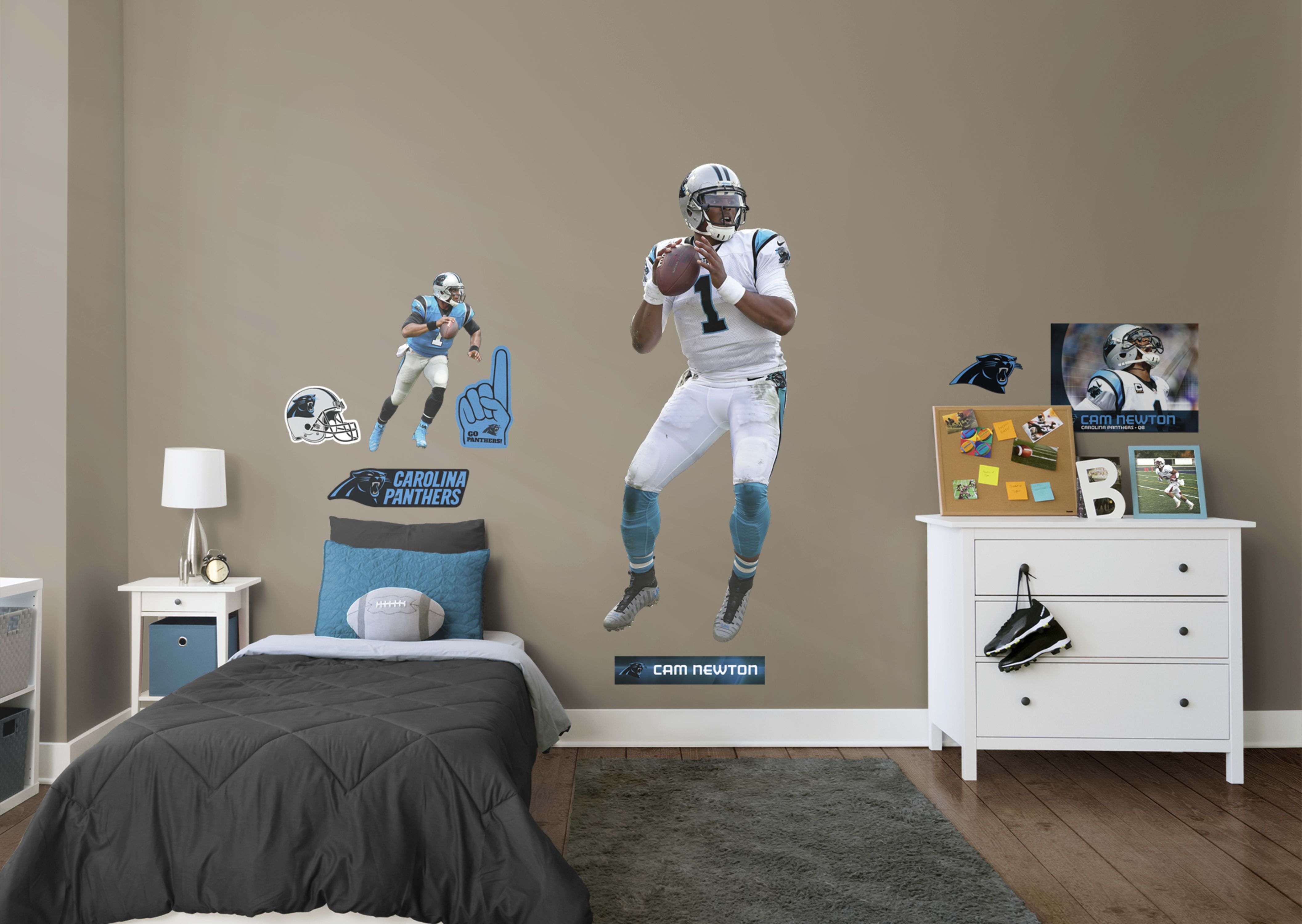 Life size cam newton fathead wall decal shop carolina panthers decor also pinterest decals and walls rh