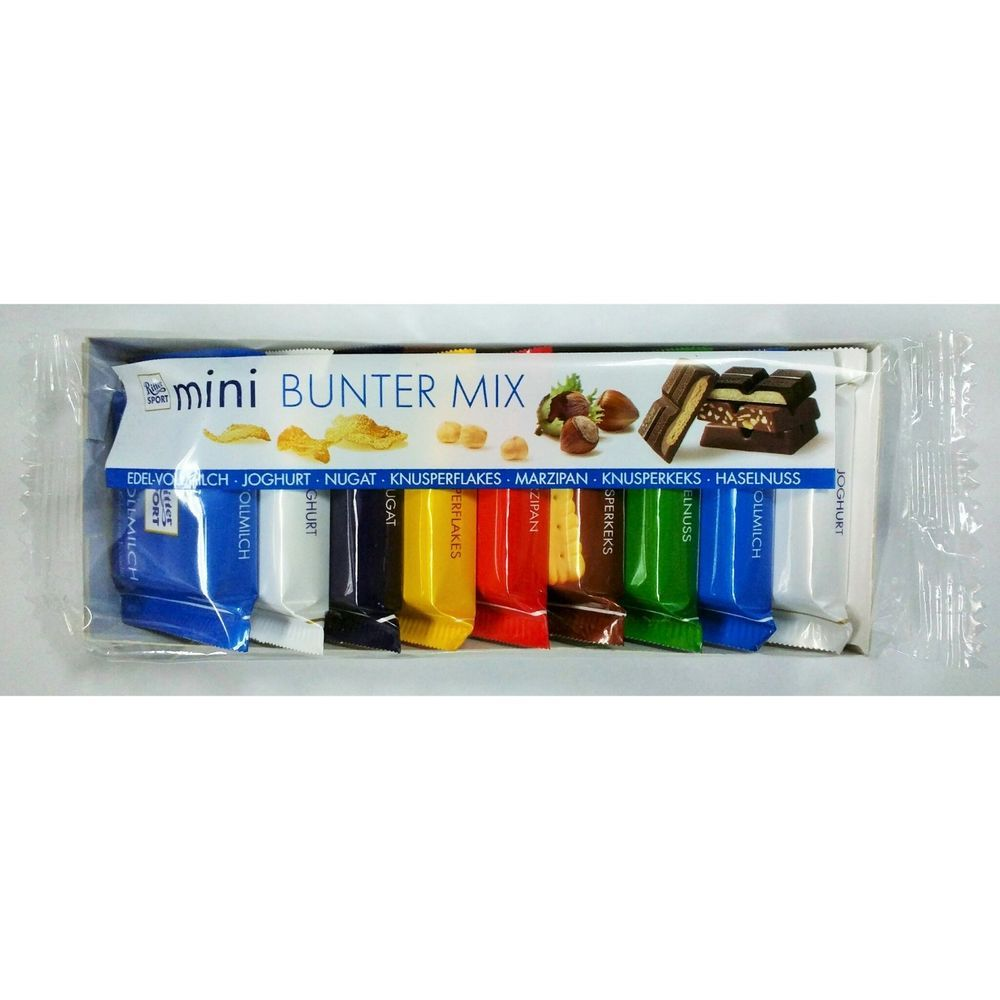 Ritter Sport Mini Bunter Mix One Pack(9 pcs) with 7 Flavor
