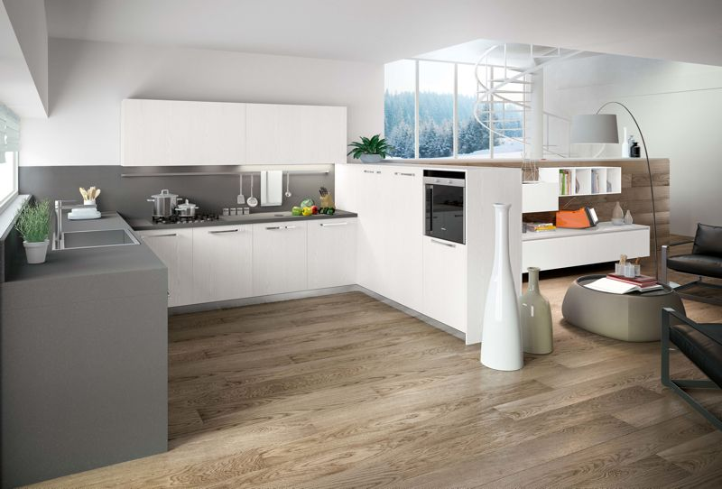 Cucine bianche moderne cerca con google cucine bianche for Case bianche moderne