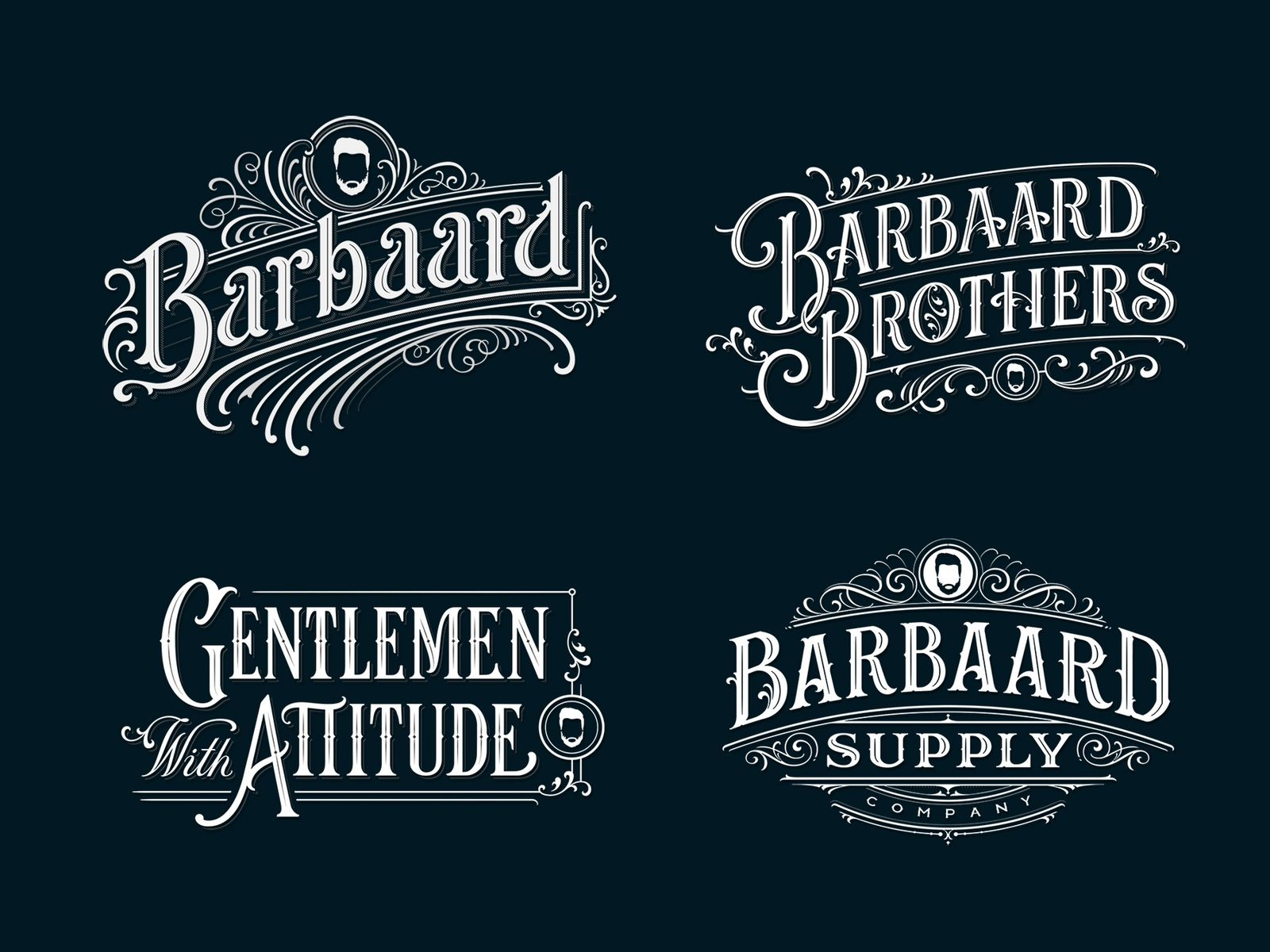 Barbaard Vintage Typography Logo Hand Lettering Logo Vintage Typography Design