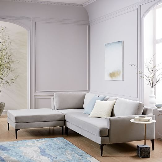 Andes 3 Piece Chaise Sectional Living Room Inspiration Modern