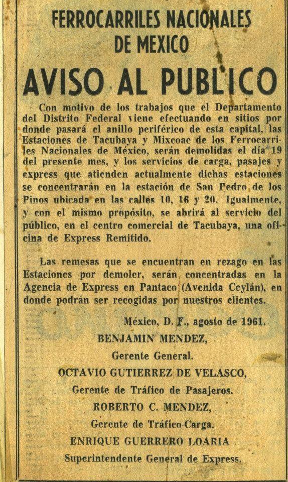 Y se terminaron los trenes en Tacubaya (1961) :(  https://www.facebook.com/atlacuihuayan