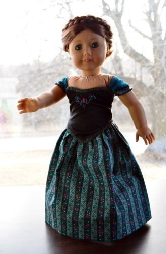 "Anna's Coronation Dress in Disney's Frozen Clothes for 18"" American Girl by Luminariadesigns 