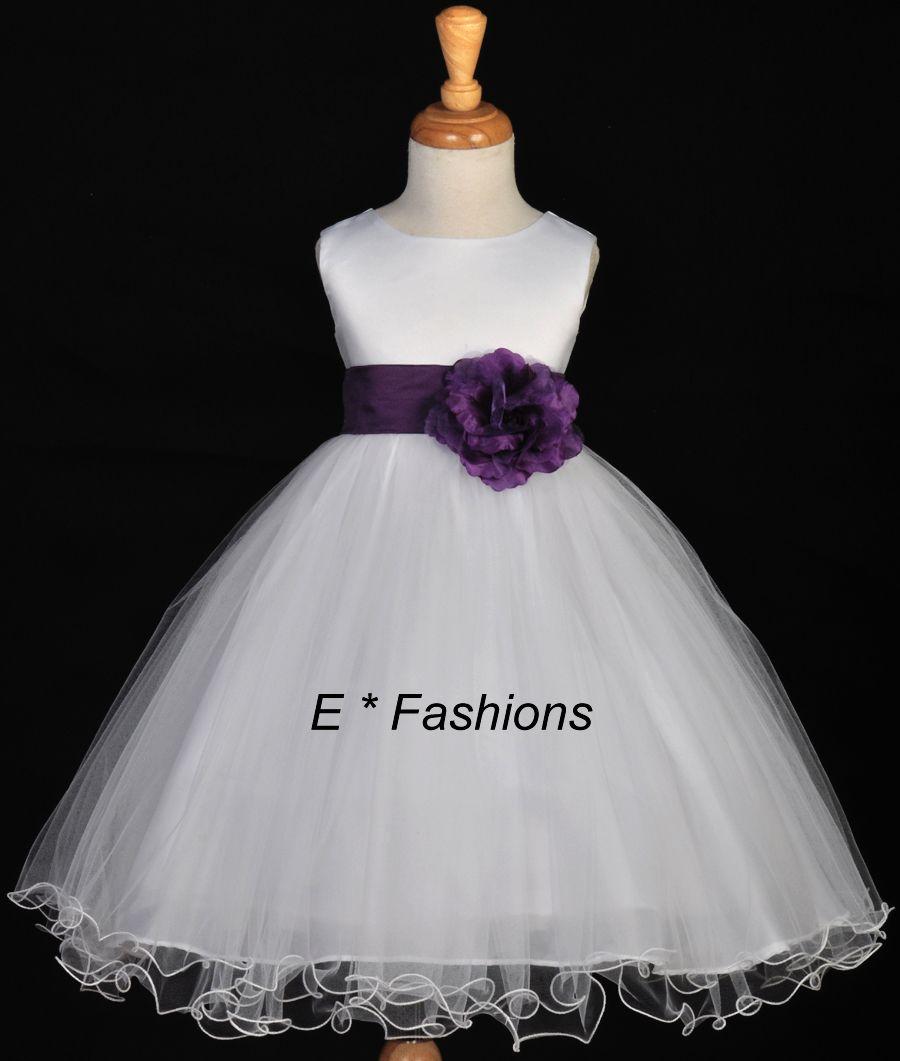 Kenadee Flower Girl Dress In 2020 Plum Flower Girl Dresses