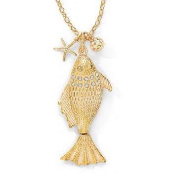 Marine Gold Marine Gold Fish Convertible Necklace