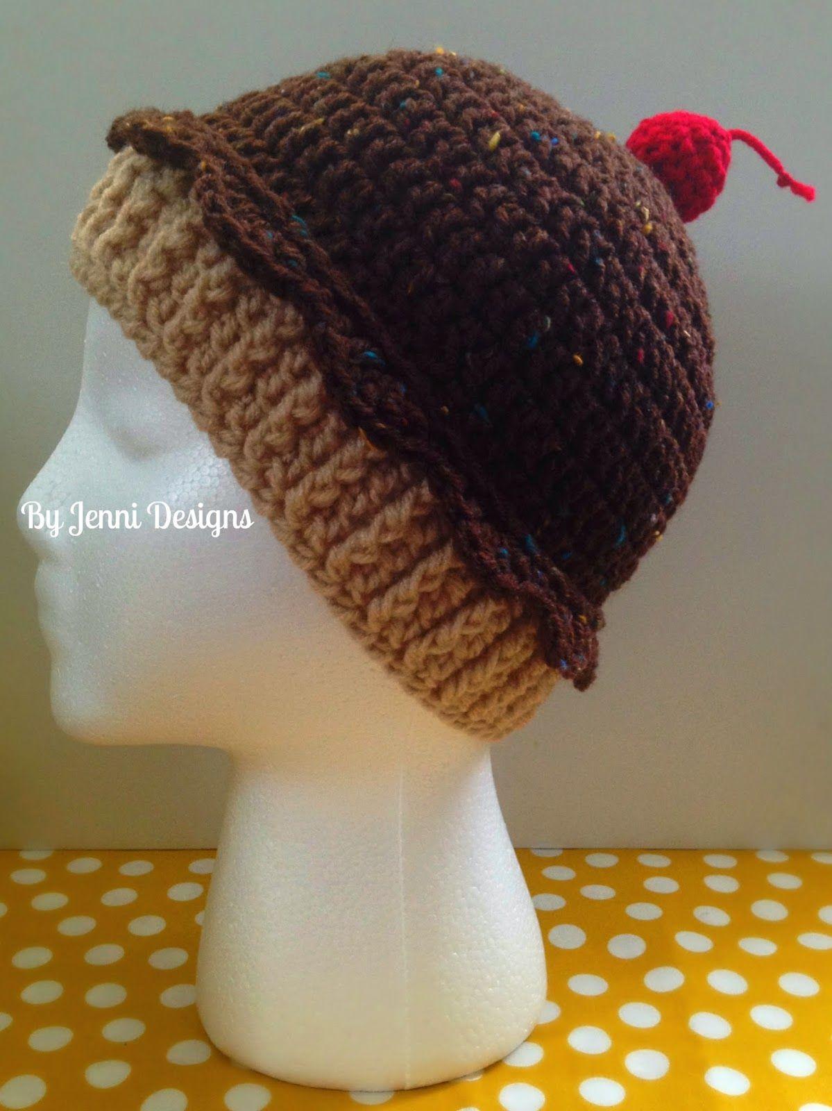 By jenni designs youth size crochet cupcake hat free pattern by jenni designs youth size crochet cupcake hat free pattern bankloansurffo Images