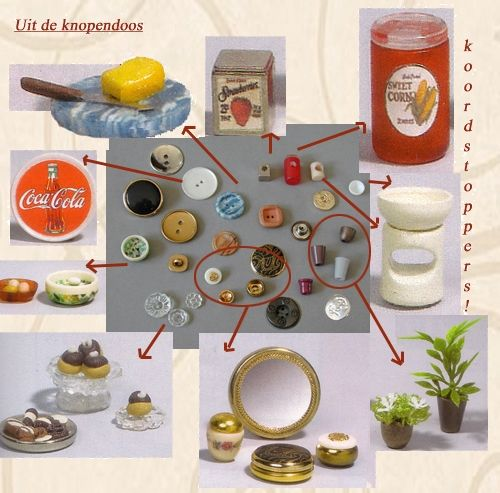 Buttons And Other Small Bits And Pieces Used For Doll House