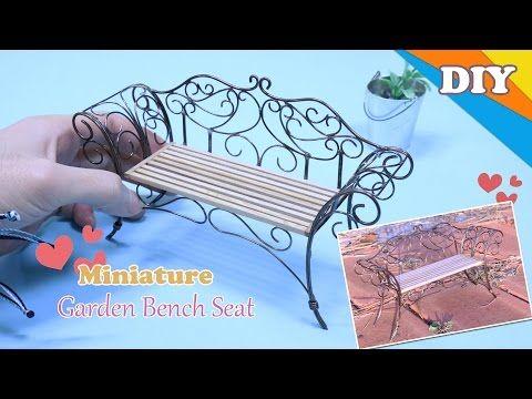 DIY Miniature Furniture Attractive Garden Bench Seat 미니어처 가구 정원의자 벤치 DIY만들기 - YouTube