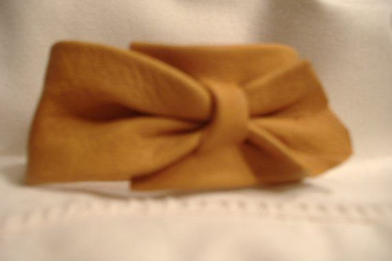Tan Deerskin cuff by 2Tui on Etsy