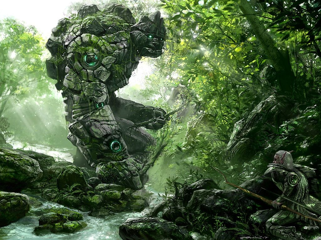 Wall Murals Nature | Nature Scenes Coloring Forest Wallpaper ...