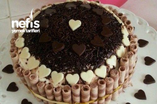 Esime Surpriz Dogum Gunu Pastasi Dondurmali Pastalar Pastalar Yemek Tarifleri