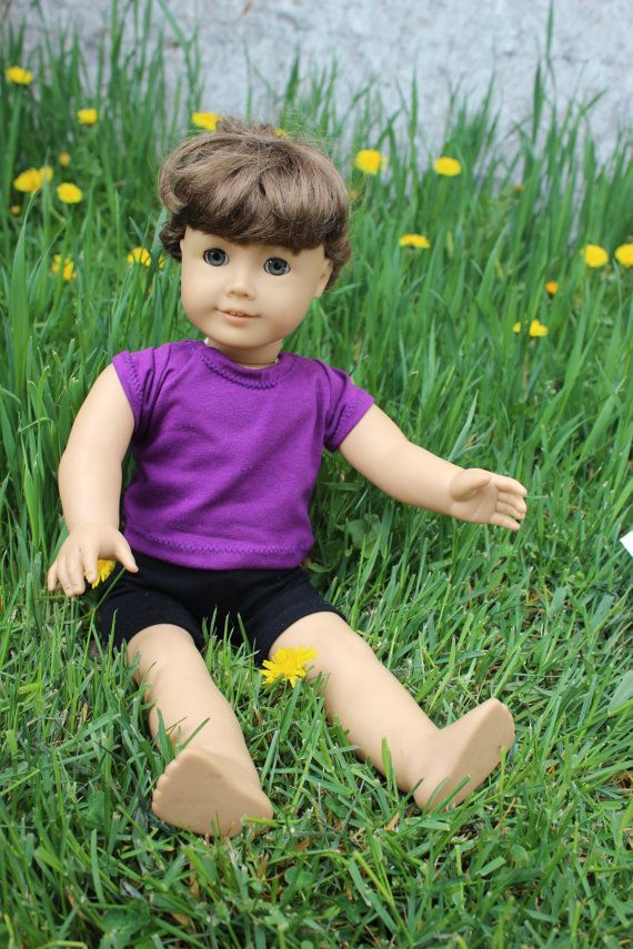 Black Knit Shorts for American Girl doll by RoaringKids on Etsy