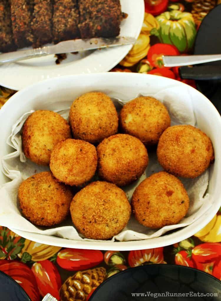 Photo of Vegan Stuffed Italian Rice Balls Recipe