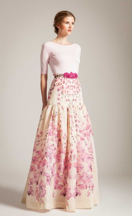 Long Orchidea Full Skirt | Floral Print Skirts | Temperley London ...
