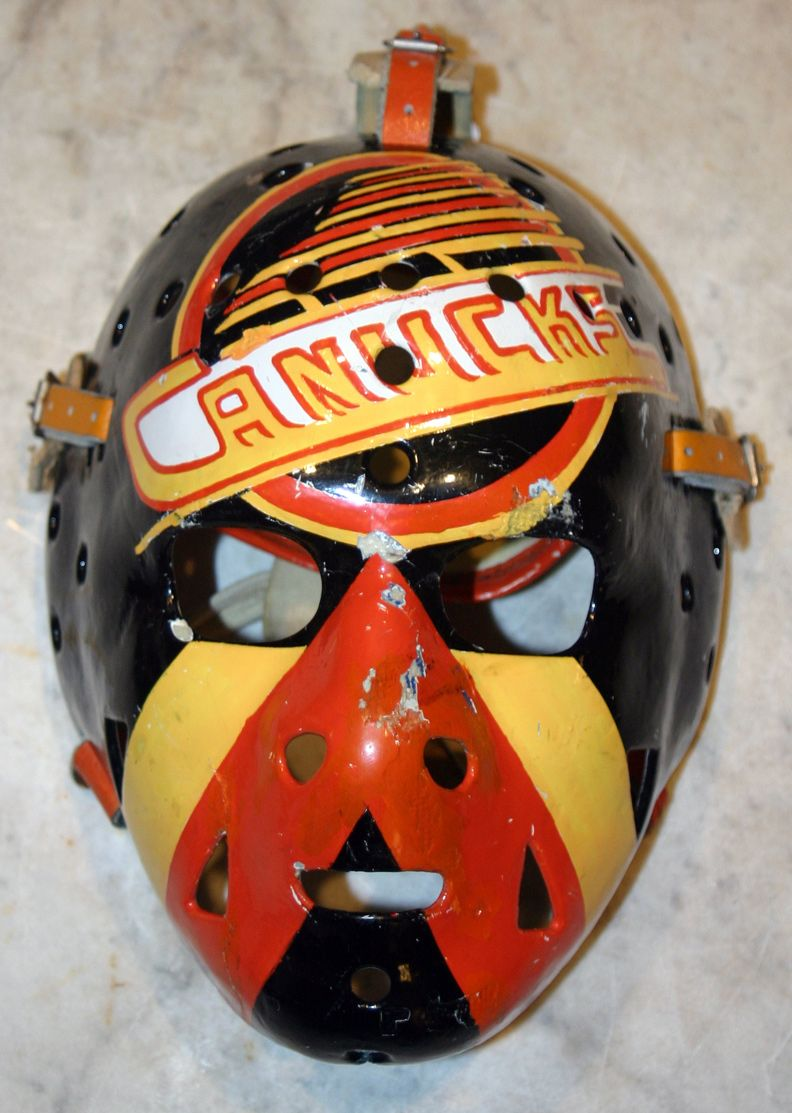 John Garrett Vancouver Canucks Goalie mask, Hockey