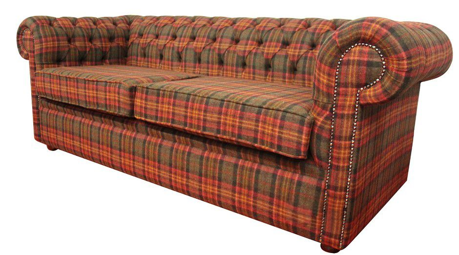 Tartan Chesterfield Sofa Corner Bed Sale London Ode To Pinterest