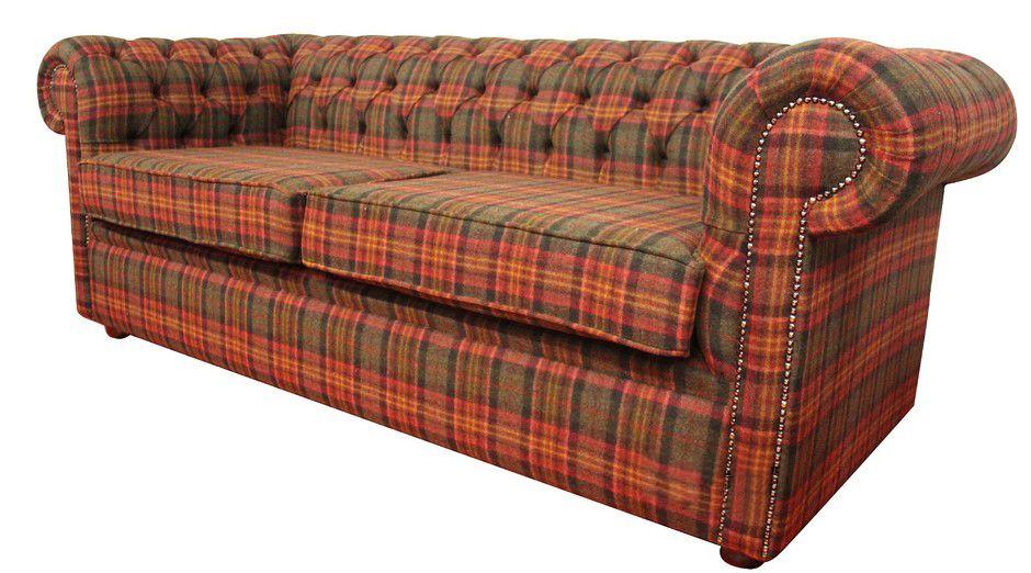 Beau Tartan Chesterfield Sofa