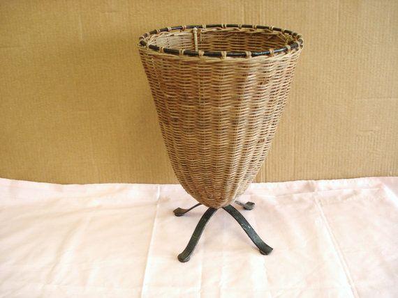 Vintage Wicker Umbrella Stand Bucket Umbrella Stand Vintage Wicker Wicker