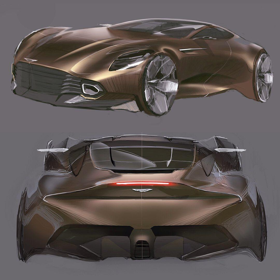 "Car Design World on Instagram: ""Aston Martin by Grigory Butin @grigorybars  #cardesign #car #design #carsketch #sketch #astonmartin #supercar #britishracing #luxurycars"""