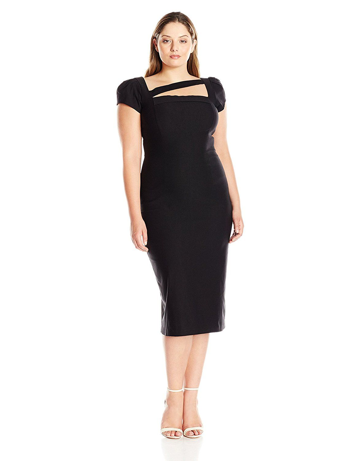 Womens Malana Plus Size Fitted Dress Stop Staring