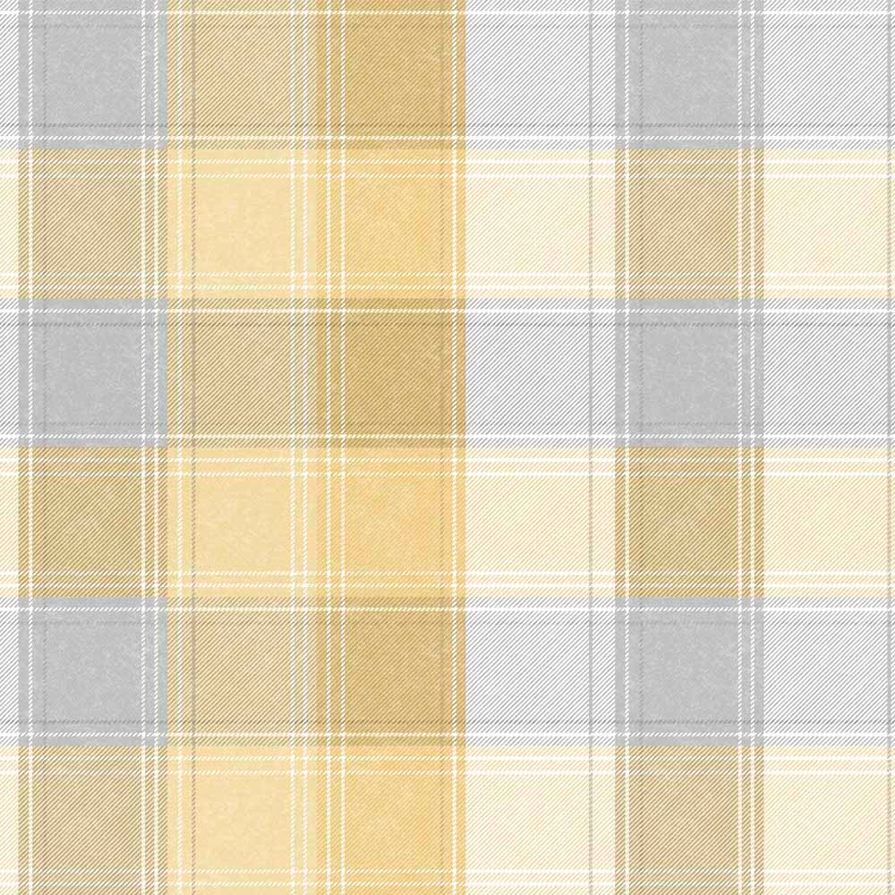 Arthouse Country Check Wallpaper Ochre in 2020 Pattern