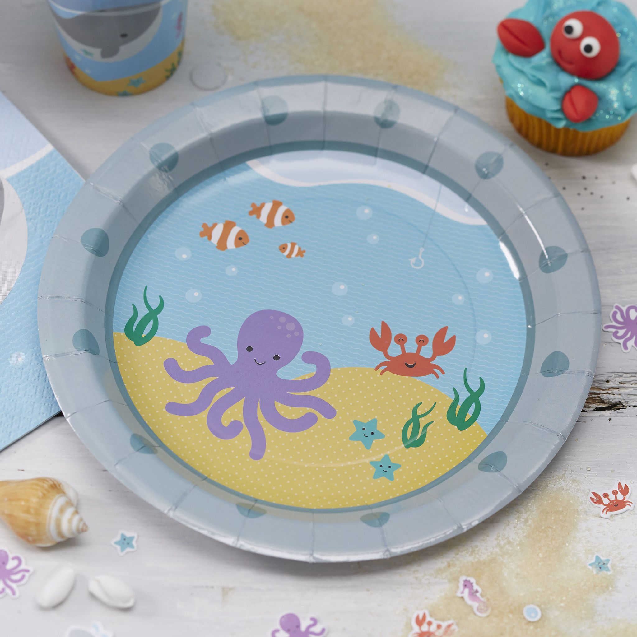 Cute Under the Sea themed paper plates perfect for a childrens party or birthday celebration! & Under The Sea - 8 Paper Plates | Childrens parties Birthday ...