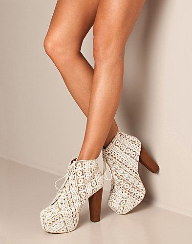 Lita Shoe, Jeffrey Campbell. I'm obsessed with this style of heel....