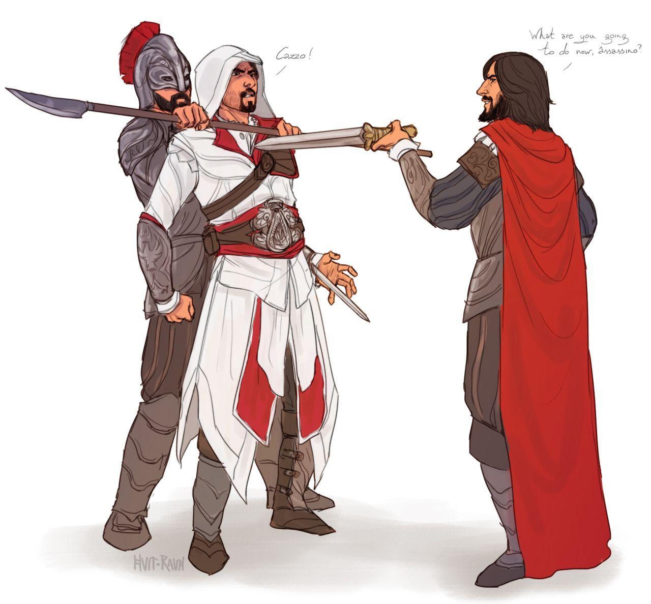 Assassin S Creed Ac Ezio Auditore Da Firenze And Cesare Borgia