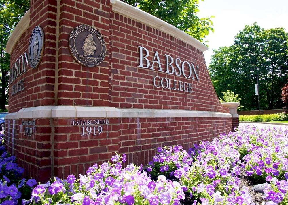 Babson college you mean boston college babson college