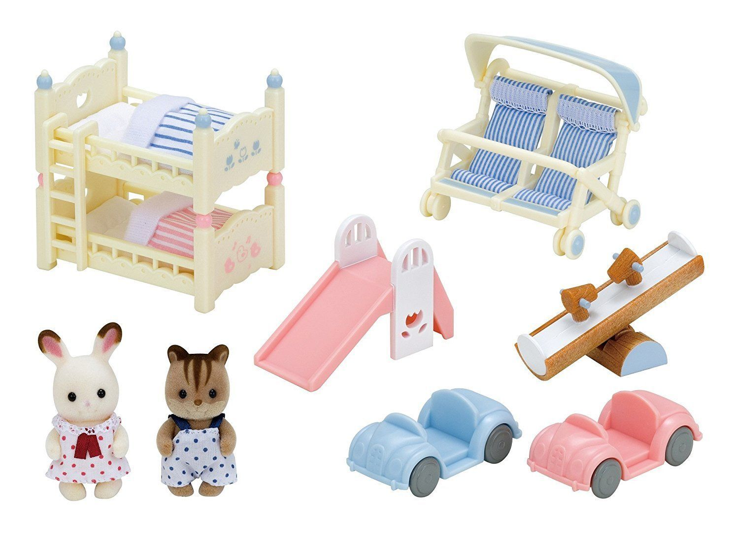 Sylvanian Families CLOSE BABIES AND BABY FURNITURE SET Epoch Calico ...