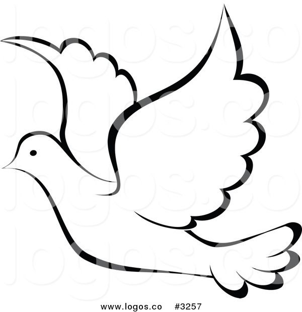 Royalty-free vector clipart illustration of a black and white flying ...