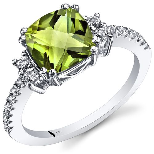 gift for her 100/% Natural Peridot jewelry sets 5*7mm engagement ring promise ring necklace wedding ring anniversary ring