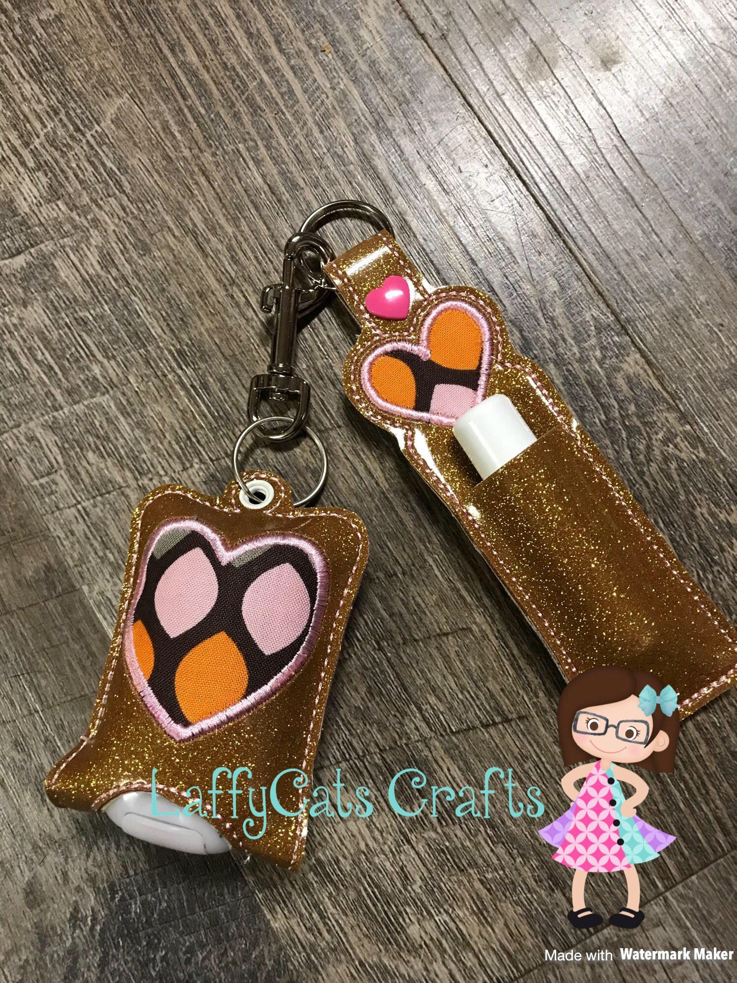 Handmade Set Of 2 Hand Sanitizer Holder And Chapstick Holder Hand