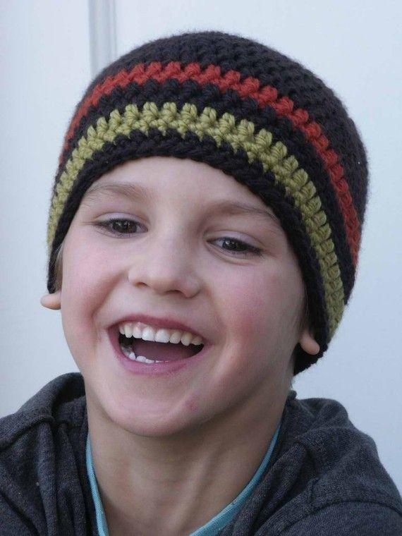 Crochet Hat Pattern - Boys Easy Peasy Beanie with optional ears Crochet  Pattern No.102 Emailed2U SEVEN SIZES suits BEGINNERS c6501137262