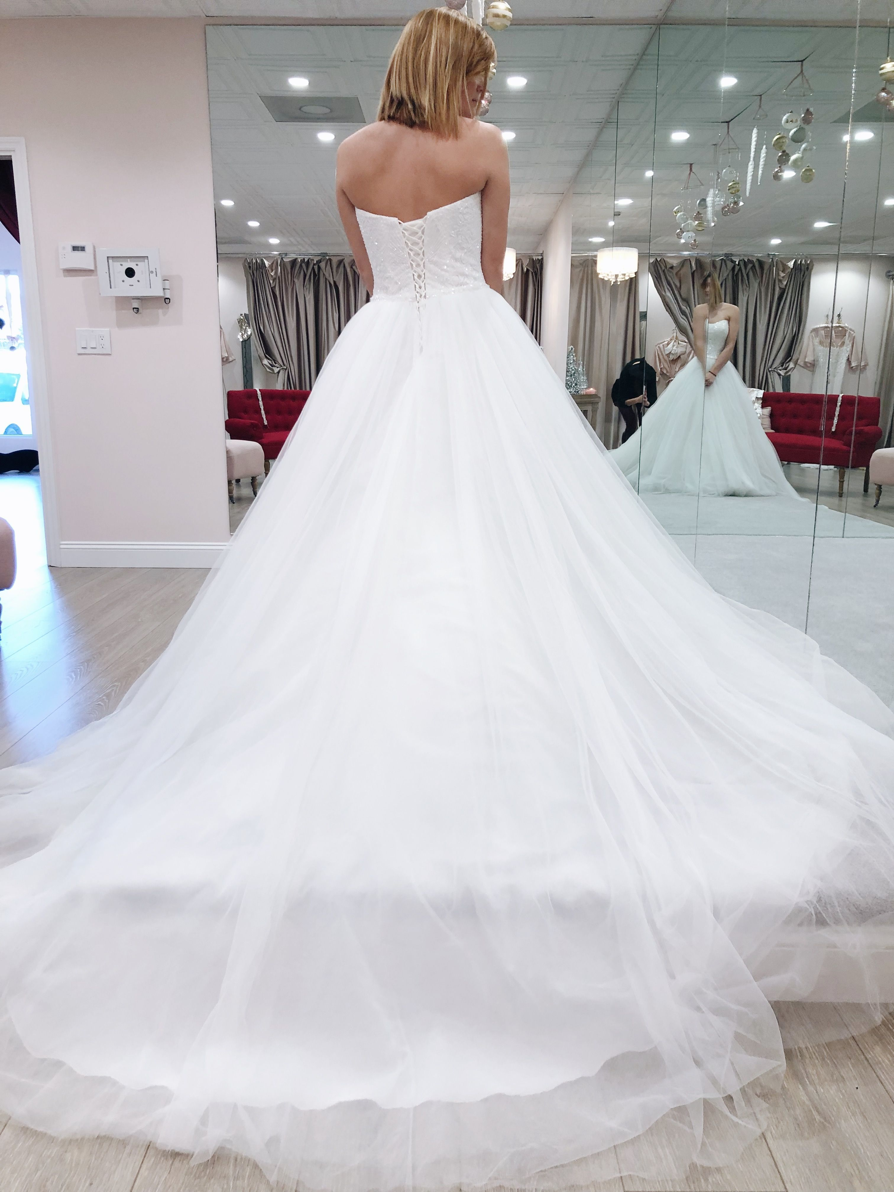 The Perfect Cinderella Wedding Dress With Soft Tulle And A Corset Back If Your Re A Br Wedding Dresses Cinderella Sophia Tolli Wedding Dresses Wedding Dresses