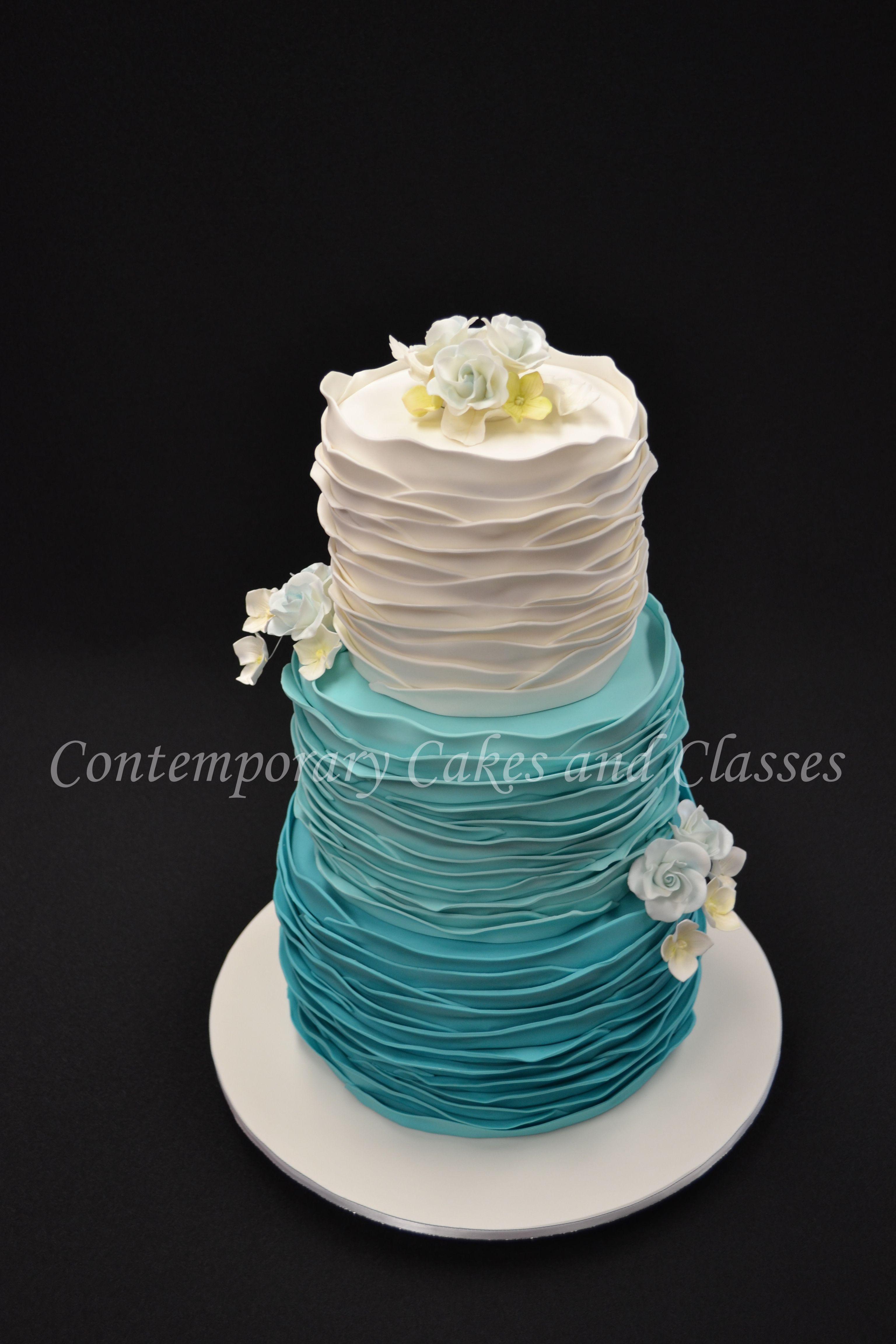 Umbre Frilled Wedding Cake No Frills Recipes Chocolate Cakes Dump