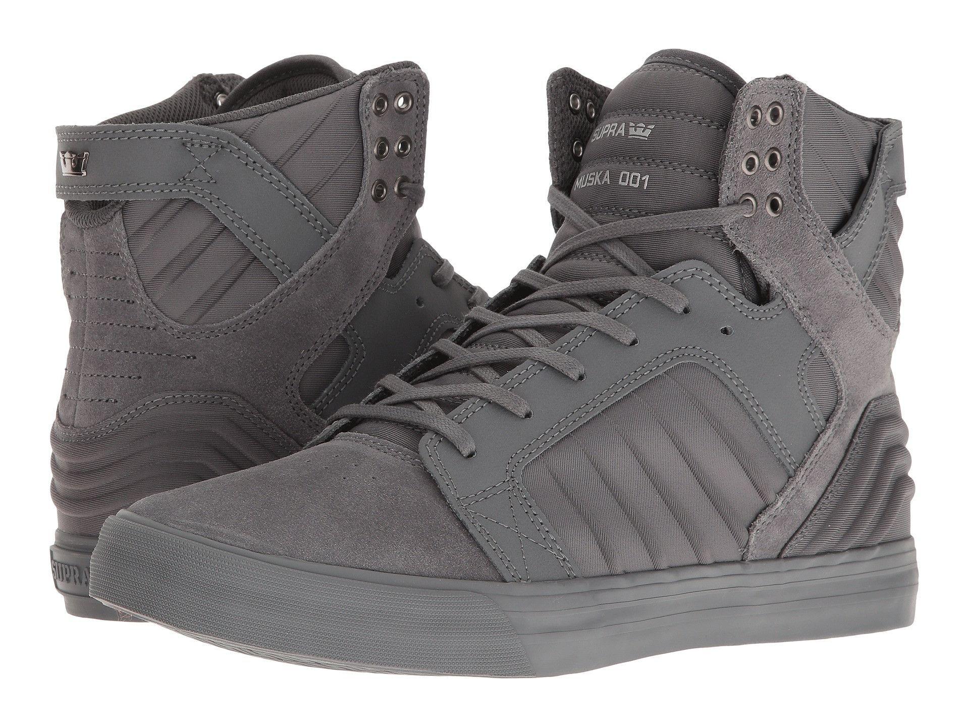 SUPRA Skytop EVO Men | Grey / Grey (08030-014-M). Men's High Top  SneakersShoes ...