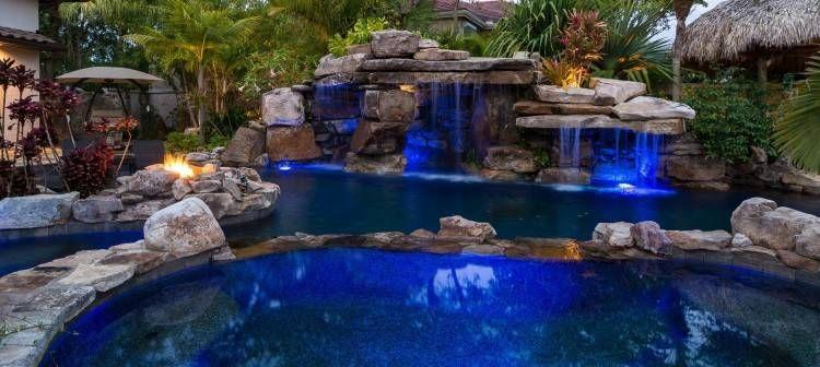 Rock Lagoon Swimming Pool Designs Indoor Pool Design Pool Waterfall Backyard Pool Landscaping