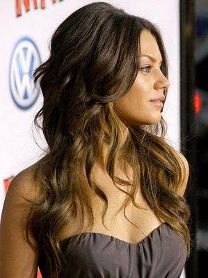 mila kunis has gorgeous hair pretty much always