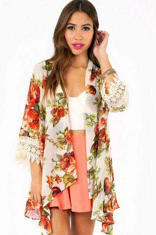 Sunday Morning Kimono $39 at www.tobi.com. Interesting outter layer makes up for boring nursing singlet I'd wear under it.