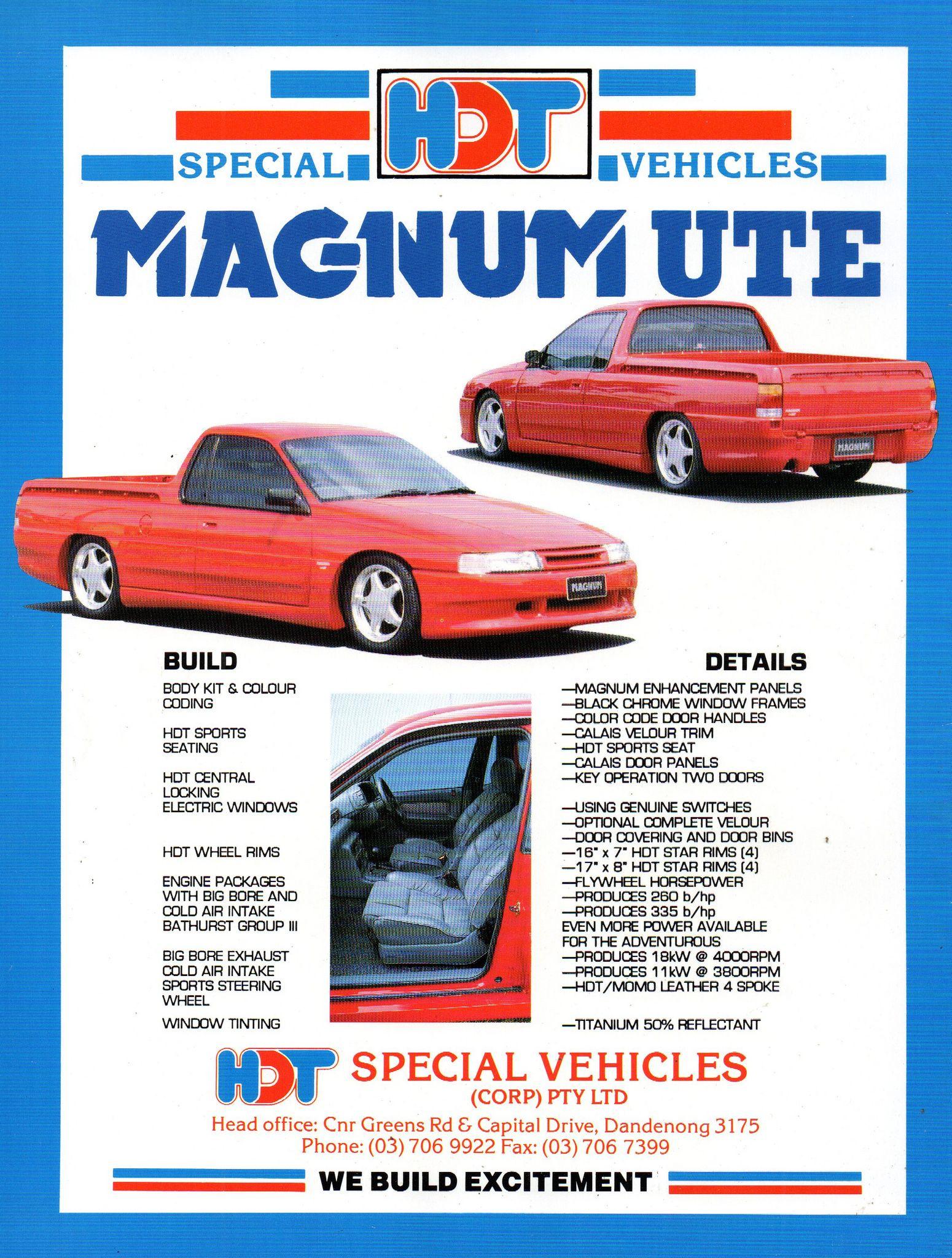 a747c1d3eb 1990-91 VG Holden Magnum Ute HDT Special Vehicles Dandenong Victoria ...