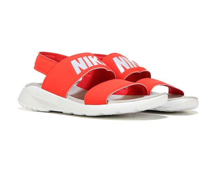 nike tanjun sandals red