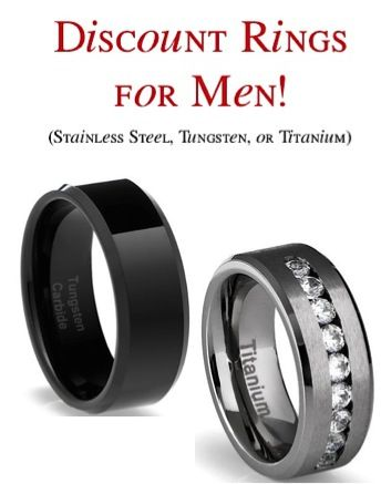 BIG+Discounts+on+Rings+for+Men!+{Stainless+Steel,+Tungsten,+or+Titanium}