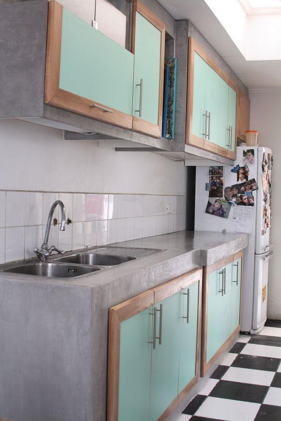Cocinas hechas a base de cemento cocinas pinterest for Cocinas hechas de cemento
