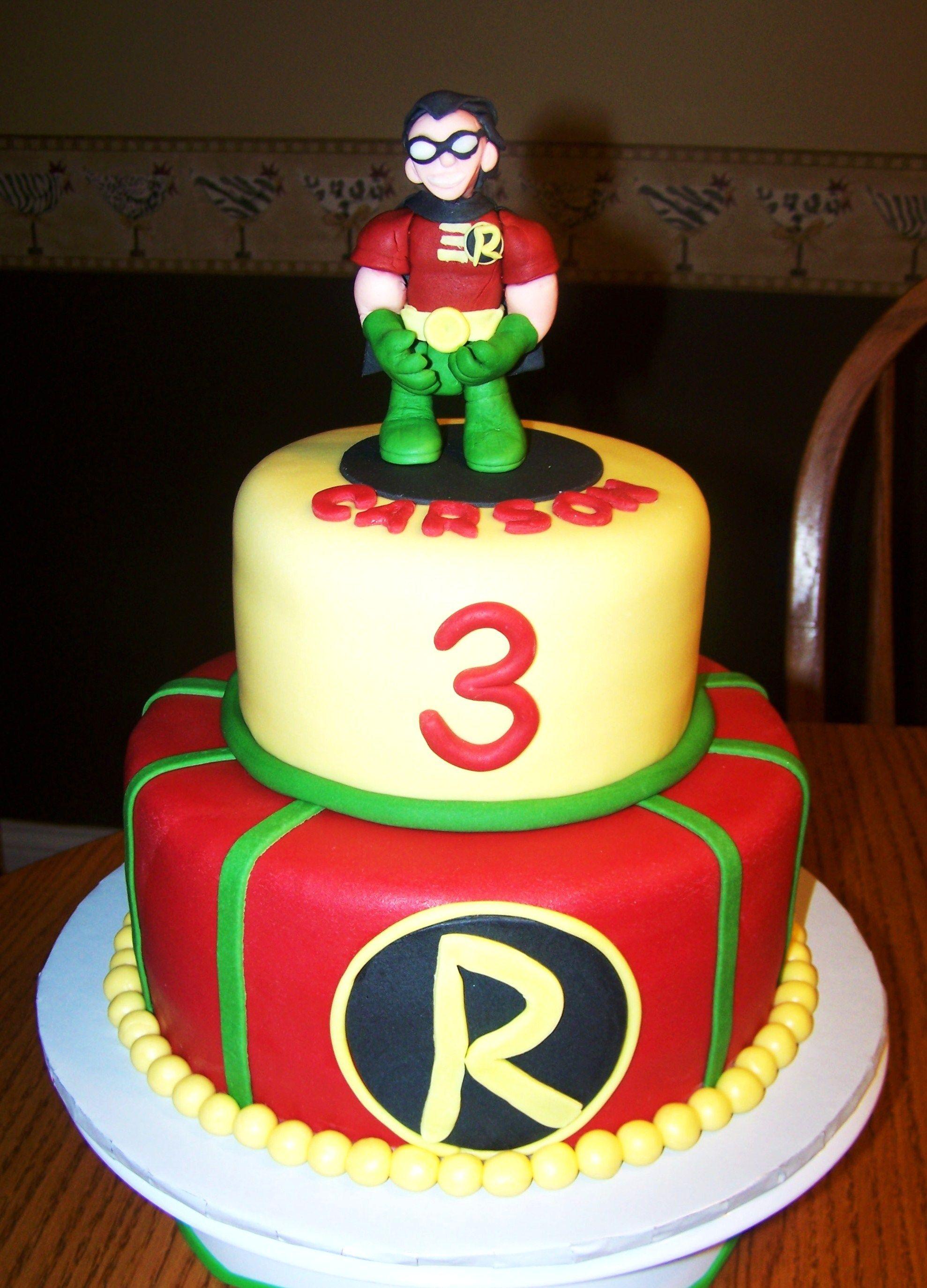Pleasant Robin Birthday Cake Birthday Cake Kids Funny Birthday Cards Online Overcheapnameinfo