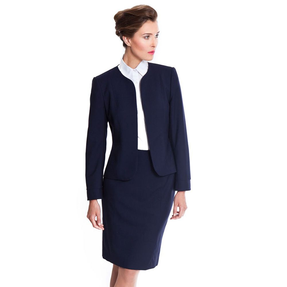 Back To Search Resultswomen's Clothing Pant Suits Cooperative Fall Winter Ladies Navy Blue Blazer Women Business Suits With Pant And Jacket Set Work Wear Office Uniform Styles