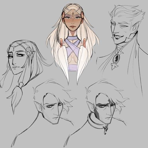Here's some early character concepts we posted during last